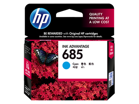 Mực in HP 685 Cyan Ink Cartridge (CZ122AA)